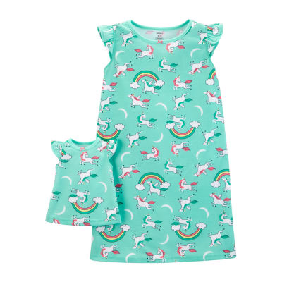 Carter's 2-Pk. Doll Unicorn Poly Sleep Gowns - Preschool Girls