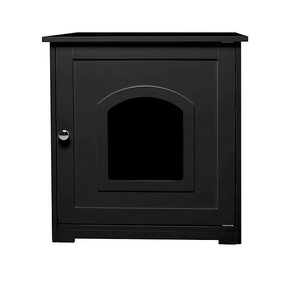 Zoovilla Litter Box Cover Black