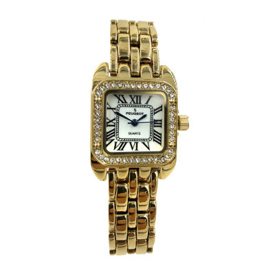 Peugeot Womens Gold Tone Bracelet Watch-7102g