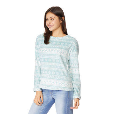 Wallflower Womens Crew Neck Long Sleeve Sweatshirt Juniors