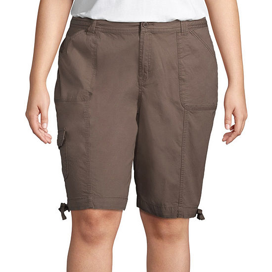 "St. John's Bay Womens 11 1/2"" Bermuda Short-Plus"