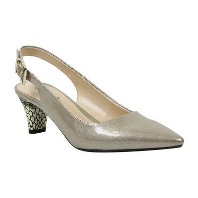Palizzio Womens Breeley Pumps Buckle Pointed Toe Kitten Heel