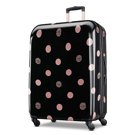 American Tourister Disney Minnie Mouse Lux Dots 28 Inch Hardside Lightweight Luggage