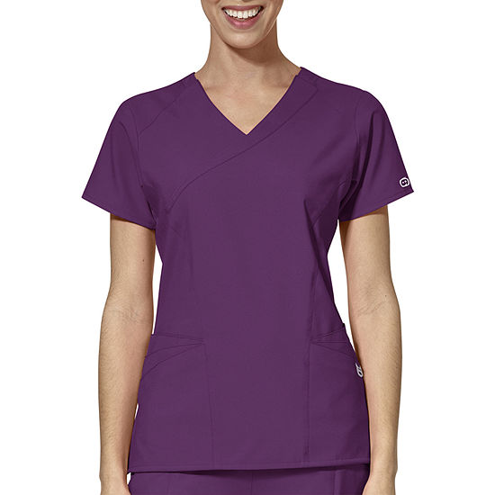 W123 by WonderWink® 6455 - Women's Mock Wrap Scrub Top