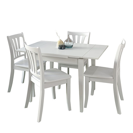 CorLiving Dillon 5pc Extendable Rectangular Wooden Dining Set