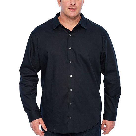 Van Heusen Mens Big and Tall Long Sleeve Engineer Shirt