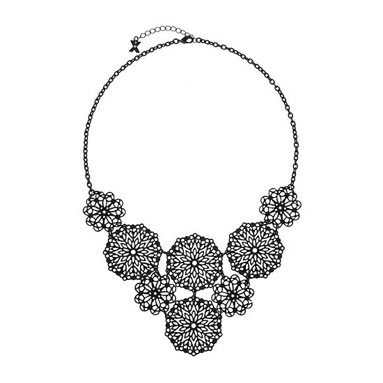 Mixit Black 18 Inch Cable Statement Necklace