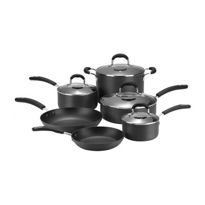 Cooks 10-pc. Classic  Hard-Anodized Nonstick Cookware Set