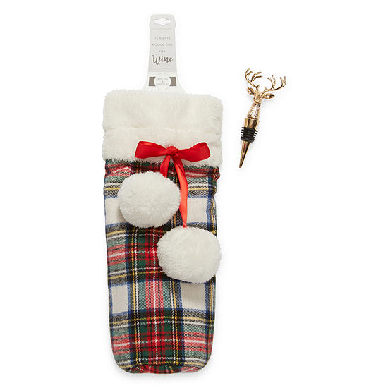 Mixit Adventure Awaits Plaid Wine Tote