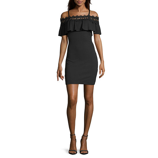 by&by-Juniors Sleeveless Midi Fit & Flare Dress
