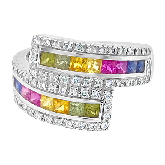 Le Vian Grand Sample Sale™ Ring featuring Blueberry Sapphire™ Bubble Gum Pink Sapphire™ Green Garnet Yellow Sapphire Vanilla Diamonds® set in 18K Vanilla Gold®