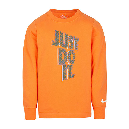 Nike Boys Round Neck Long Sleeve T-Shirt-Preschool