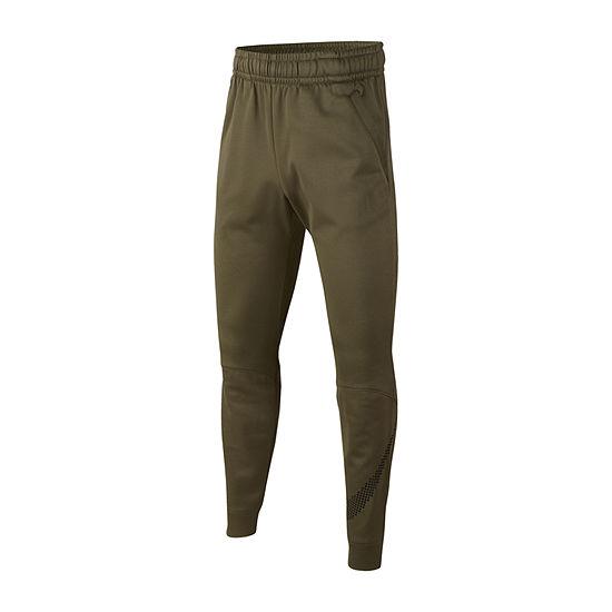 Nike Boys Performance Fleece Mid Rise Tapered Pull-On Pants - Big Kid