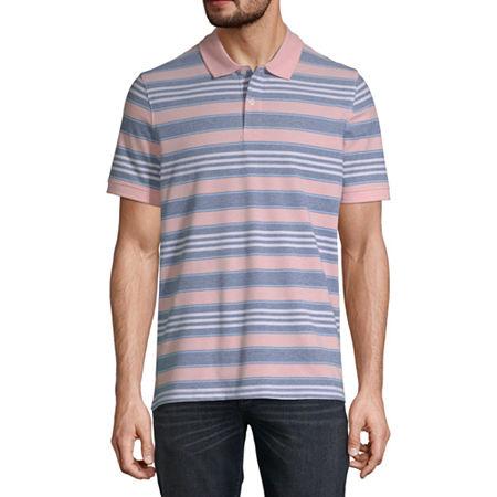 80s Men's Clothing | Shirts, Jeans, Jackets for Guys St. Johns Bay Essential Stretch Mens Short Sleeve Polo Shirt Large  Orange $14.00 AT vintagedancer.com
