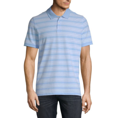 St. John's Bay Essential Stretch Mens Short Sleeve Polo Shirt