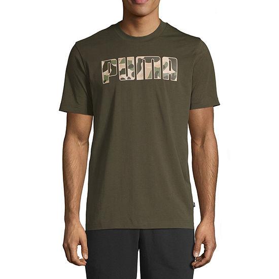 Puma Camo Mens Crew Neck Short Sleeve T-Shirt