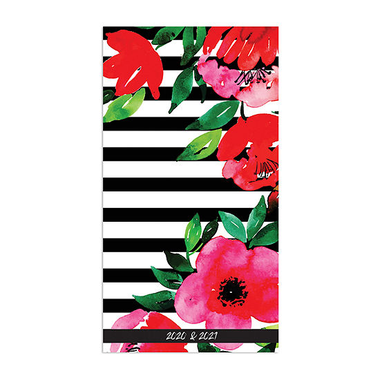 Tf Publishing 2020-2021 Classic Floral Stripe 2-Year Small Monthly Planner