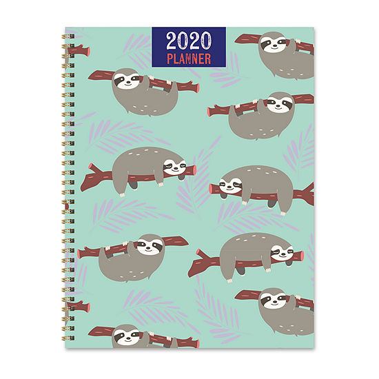 Tf Publishing 2020 Happy Sloth Large Weekly Monthly Planner