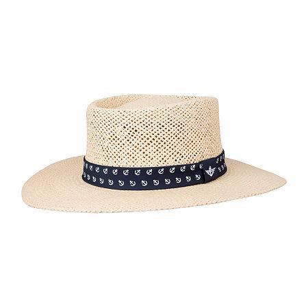 1940s Mens Hats | Fedora, Homburg, Pork Pie Hats Dockers Mens Panama Hat Small-medium  Brown $19.19 AT vintagedancer.com
