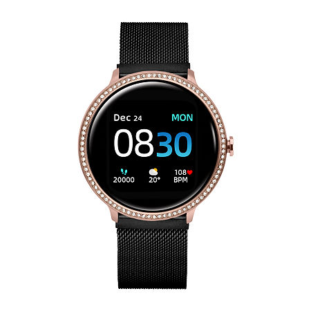 Itouch Sport Special Edition Unisex Adult Black Stainless Steel Smart Watch-500018r-51-C02, One Size