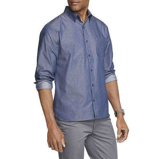 Van Heusen Mens Long Sleeve Button-Down Shirt