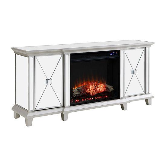 Shaman Media Console Mirrored Fireplace