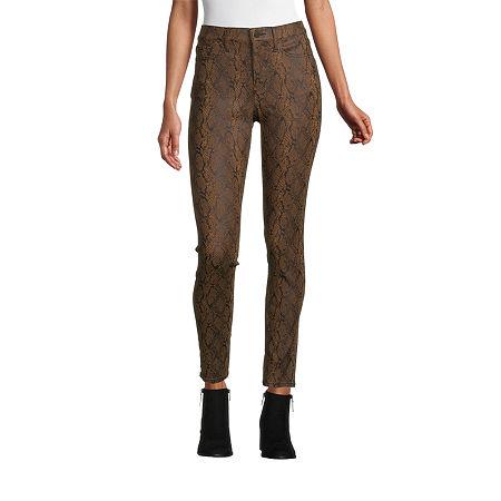 a.n.a Womens High Rise Coated Skinny Fit Jean, 12 , Brown