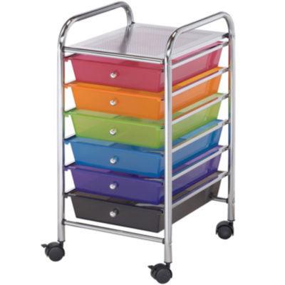 Scrapbook Storage Cart with 6 Drawer