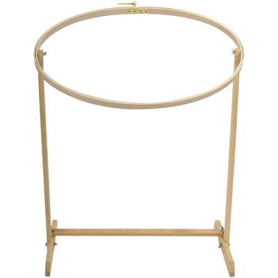 "Wood Oval Embriodery 31"" Hoop with Floor Stand"