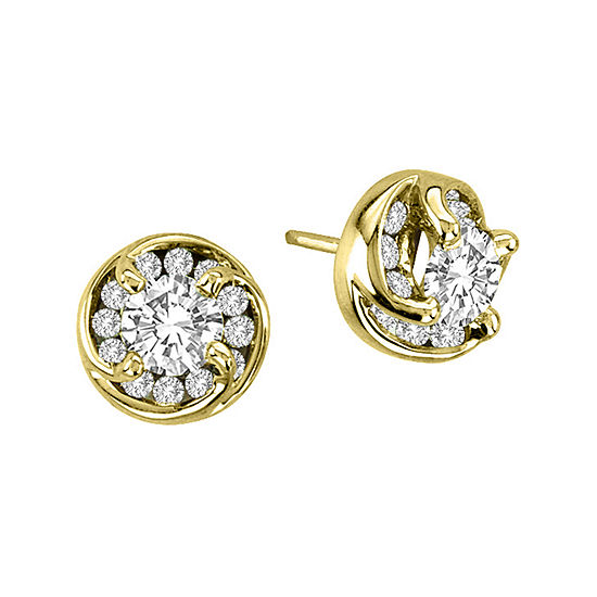 1 CT. T.W. Diamond Stud Earrings in 14K Yellow Gold