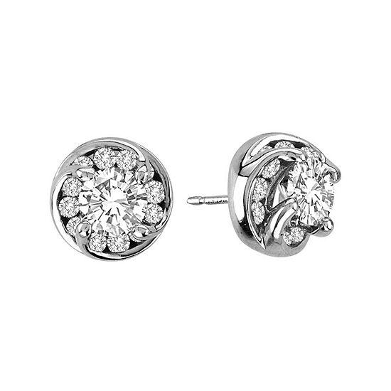 2 Ct Tw Diamond Stud Earrings In 14k White Gold