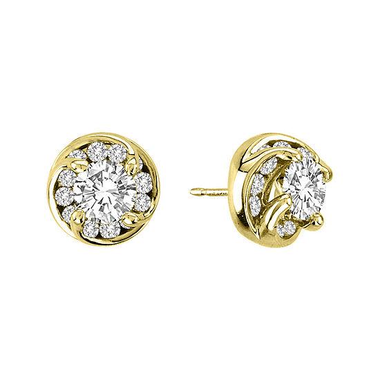 2 Ct Tw Diamond Stud Earrings In 14k Yellow Gold