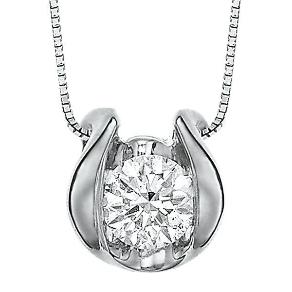 14k white gold diamond pendant diamond solitaire pendant necklace aloadofball Image collections