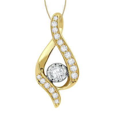 Sirena® ⅜ CT. T.W. Genuine Diamond Pendant Necklace