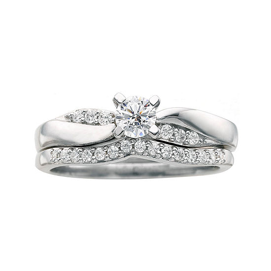 I Said Yes™ 3/8 CT. T.W. Certified Diamond Bridal Ring Set