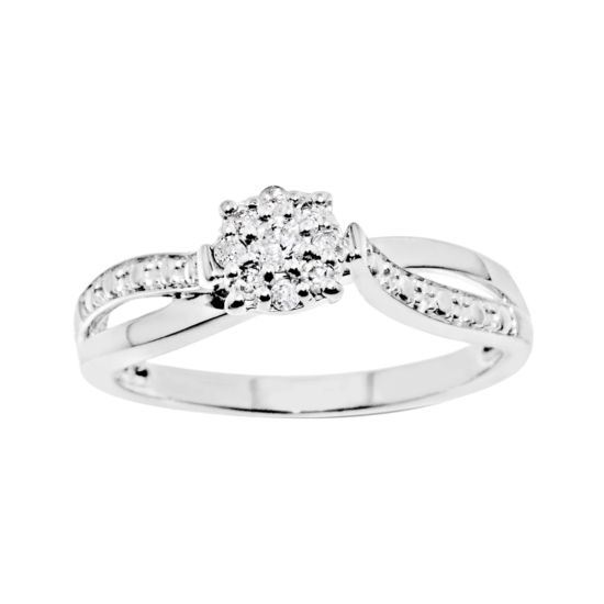 Promise My Love 1/6 CT. T.W. Diamond Sterling Silver Promise Ring