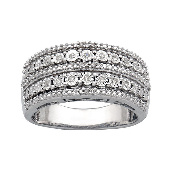 1/10 CT. T.W. Sterling Silver Diamond Ring
