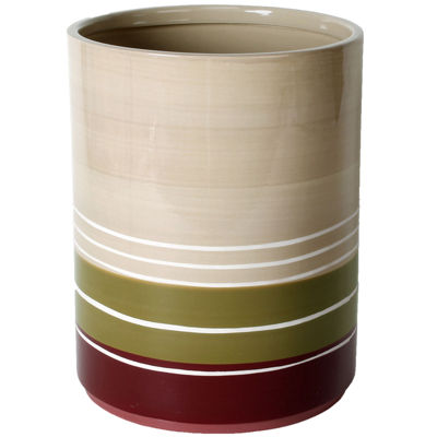 Madison Stripe Wastebasket