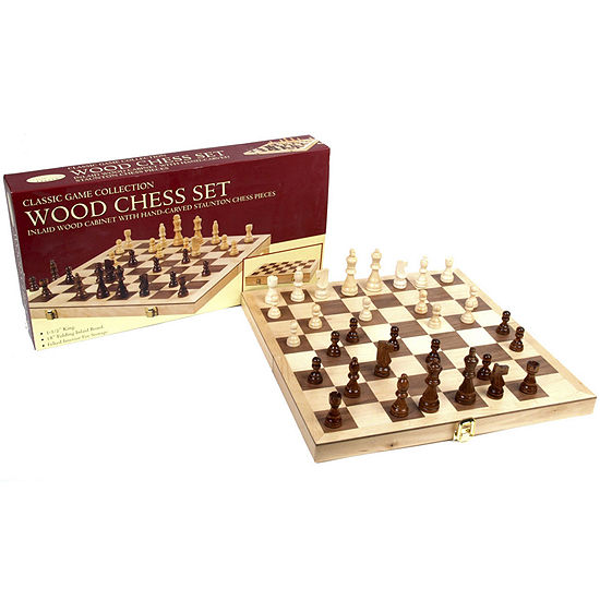 "18"" Wood Chess Set"