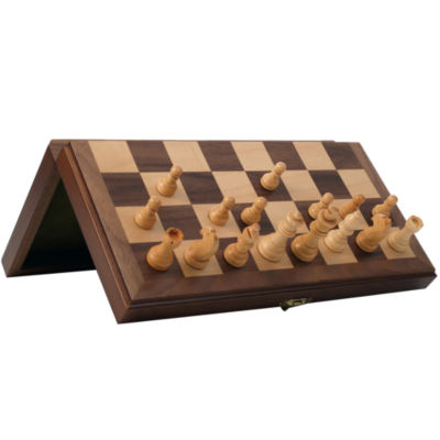 Wooden Magnetic Travel Chess Set