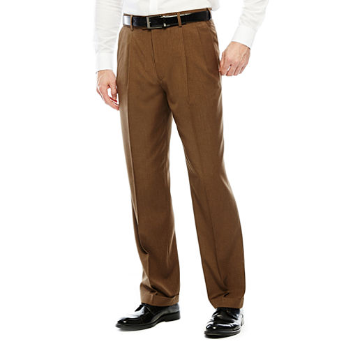 Stafford® Travel Year-Round Pleated Pants