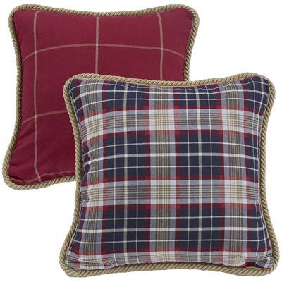 HiEnd Accents South Haven Reversible Plaid Decorative Pillow