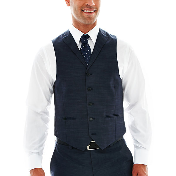 Steve Harvey® 5-Button Sharkskin Vest