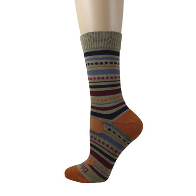 Dickies® 1 Pair Womens Wool-Blend Striped Crew Socks