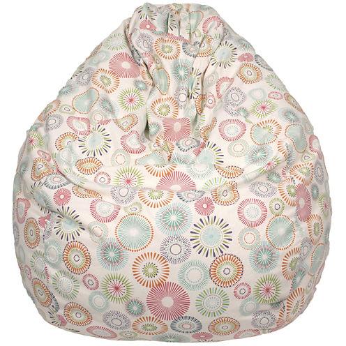 Cotton Pinwheel Teardrop Beanbag
