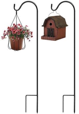 Sorbus Shepherd's Hooks - Set of 2 Extendable Garden Planter Stakes