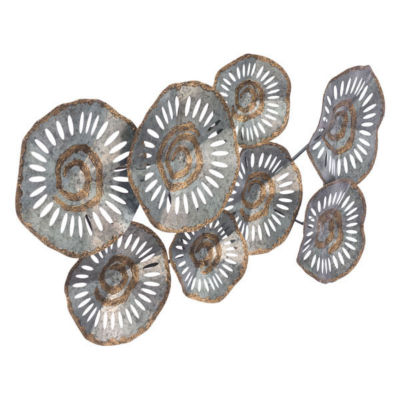 Zinc Flowers Metal Wall Art