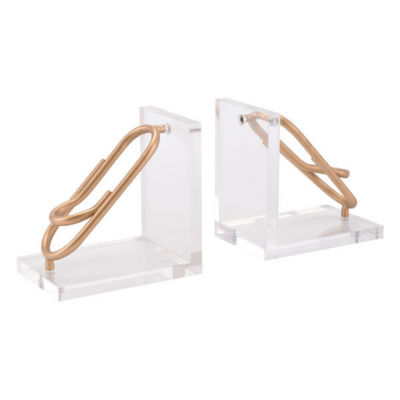 Clips Set of 2 Bookends