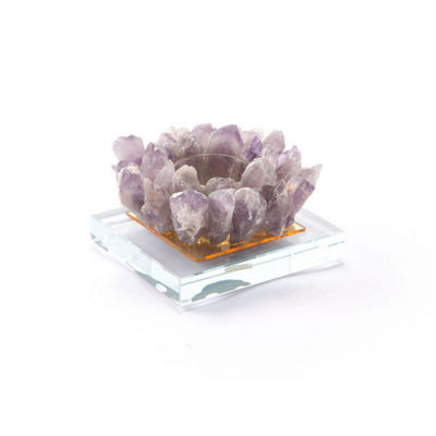 Agate Votive Candle Holder