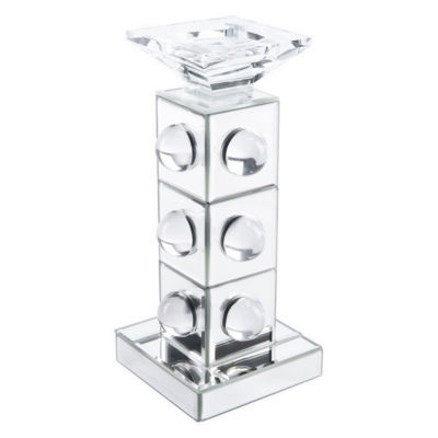 Mirrored Lucite Candle Holder
